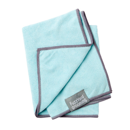FuzzYard Blue Puppy Micro Fibre Drying Dog Towel