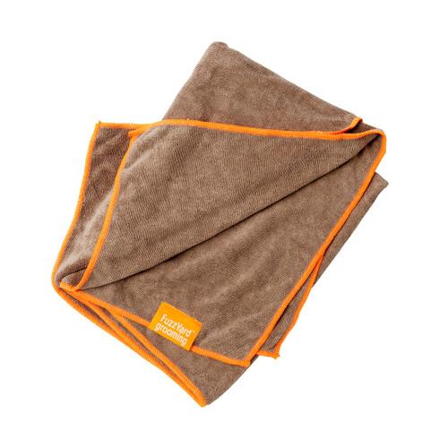FuzzYard Brown Dog Micro Fibre Drying Towel