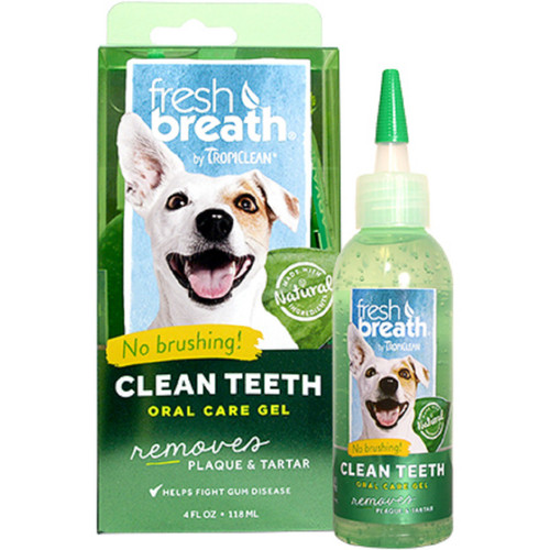 TropiClean Fresh Breath Clean Teeth Gel for dogs puppies dental care