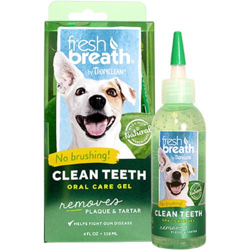 TropiClean Fresh Breath Clean Teeth Gel for dogs puppies dental care