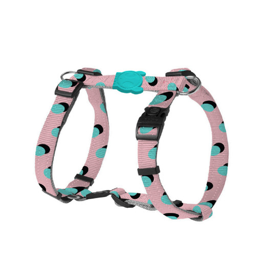 Zee.Dog zee dog Pink Polka adjustable H walking harness for Dogs puppies dog puppy