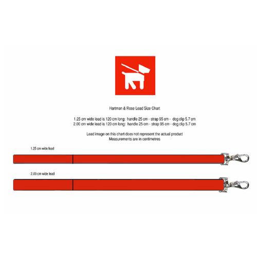 Hartman & Rose Italian black patent leather and gold dog puppy designer walking lead chart