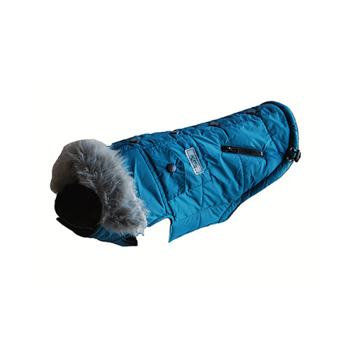 Huskimo Everest Coat Teal dog puppy jacket
