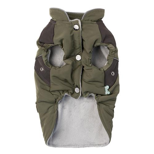 Fuzzyard Adventurer Koscuioszko khaki dog puppy winter warm jacket coat apparel