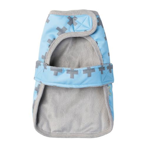 FuzzYard Saint Yeezy Blue Winter Dog Puppy Wrap Vest Coat