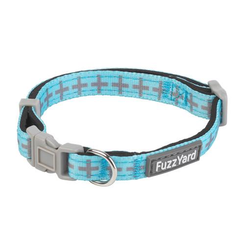 Fuzzyard saint yeezy blue cross xs extra small puppy dog adjustable neoprene collar