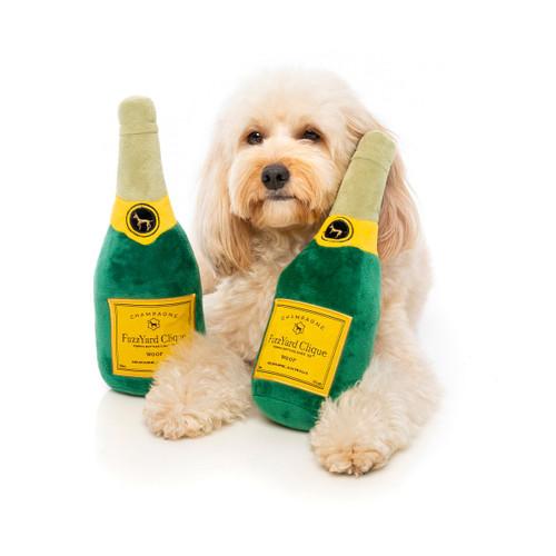 FuzzYard Champagne Bottle Plush Dog Puppy Toy
