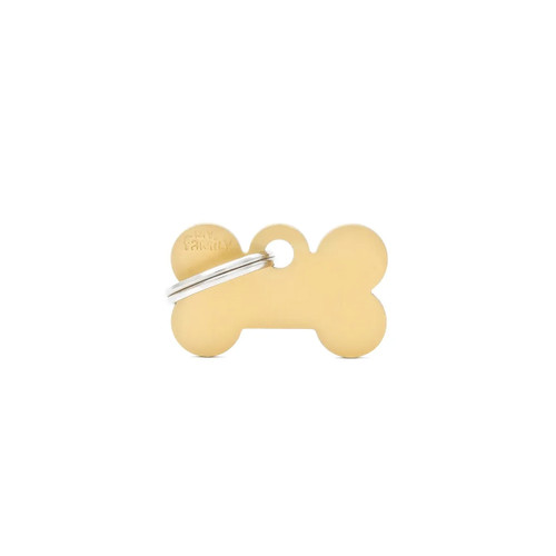 My Family Basic Bone Gold ID Tag