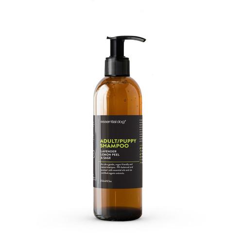 Essential Dog Adult/Puppy Shampoo: Lavender, Lemon Peel & Sage