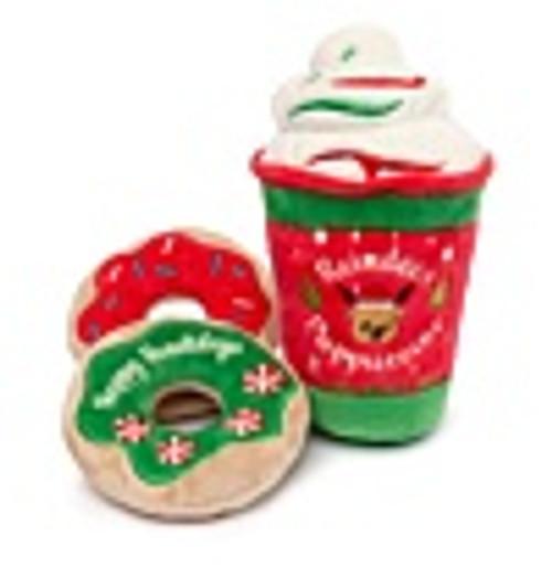 FuzzYard Reindeer Puppuccino & Donuts 3pk