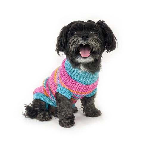 Huskimo Fiesta Hot Pink Jumper dog puppy winter knit