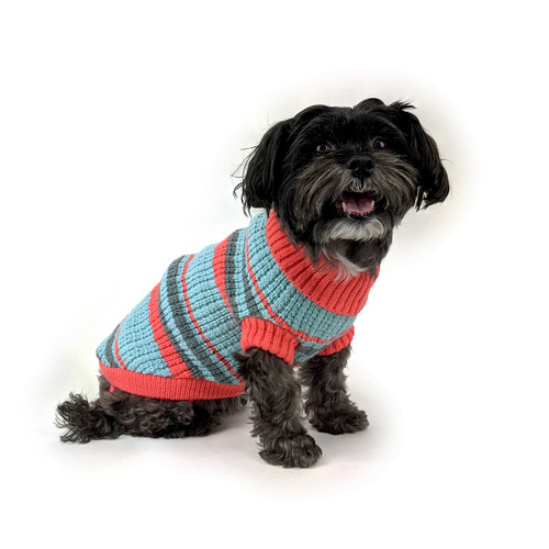 Huskimo Fiesta Blue Jumper dog puppy winter knit