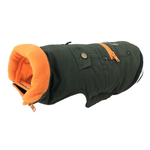 Huskimo Mt Buller Coat Khaki winter dog puppy jacket warm apparel