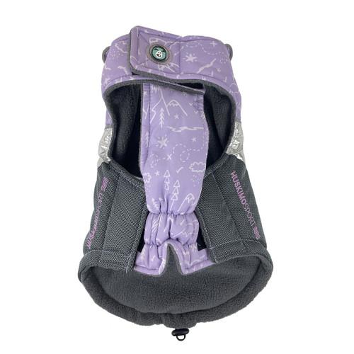 Huskimo Odour Free Sherpa Lilac Dog Puppy winter apparel jacket