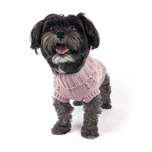 Huskimko french knit  rose pink dog puppy jumper