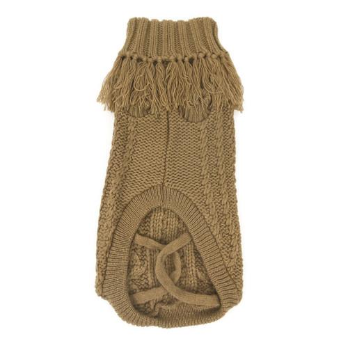 Huskimo caramel coachella french knit dog puppy jumper