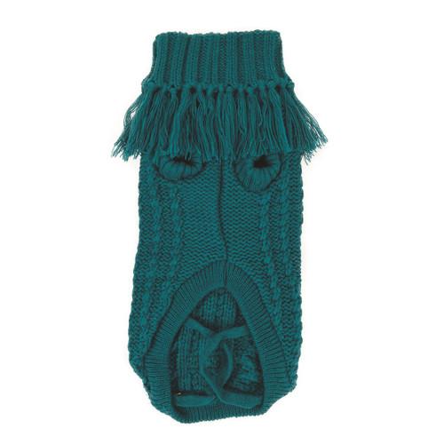 huskimo emerald green coachella french knit dog puppy jumper