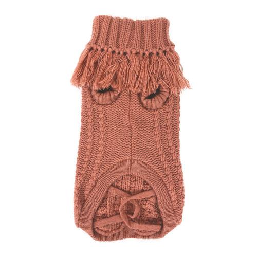 huskimo salmon coachella french knit dog puppy jumper