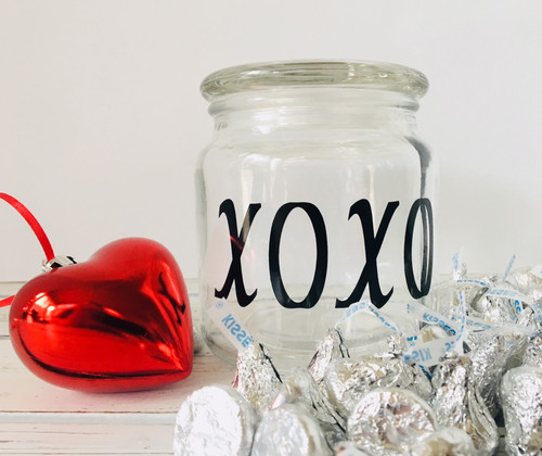 Valentines Day XOXO Gift Jar