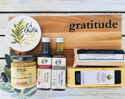 Gratitude Cutting Board and Snack Gift