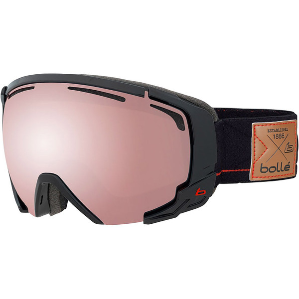 Bolle Supreme Over-the-Glass Shiny Black & Red Goggle With Vermillon Gun Lens