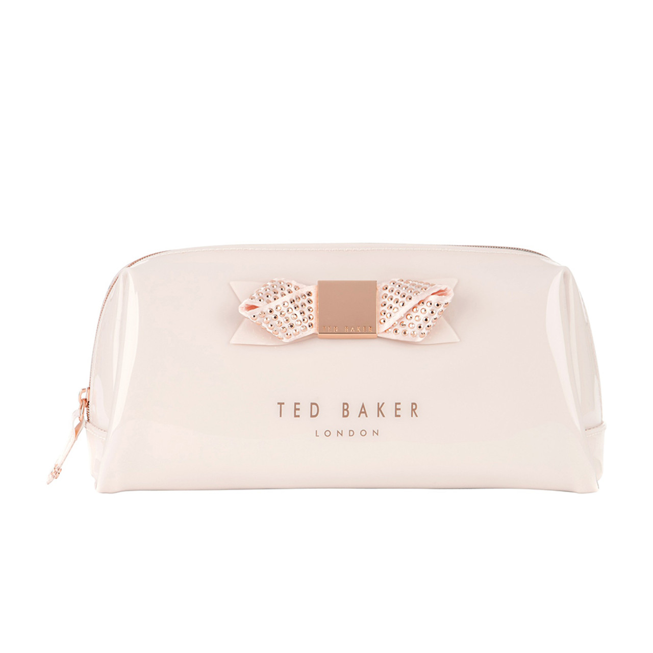detailed pictures ccd42 17956 Ted Baker Makeup Bag- Metallic Nude Pink