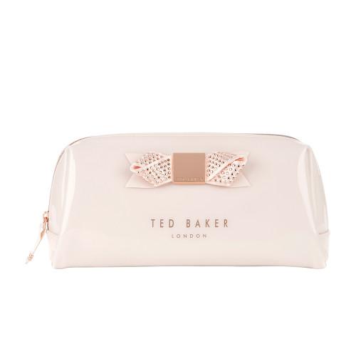 Ted Baker Makeup Bag- Metallic Nude Pink