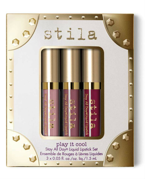 Stila - Play it Cool Stay all Day Liquid Lipstick Set (LE) **New**