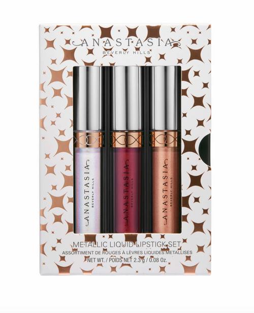 Anastasia Beverly Hills - Mini Metallic Liquid Lipstick 3 Piece Set (LE)