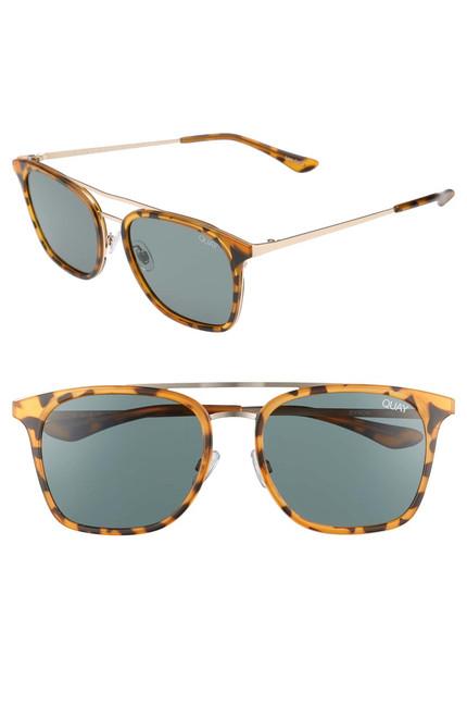 Quay Australia - Byron 50mm Sunglasses - Tortoise Green Lens (LE)