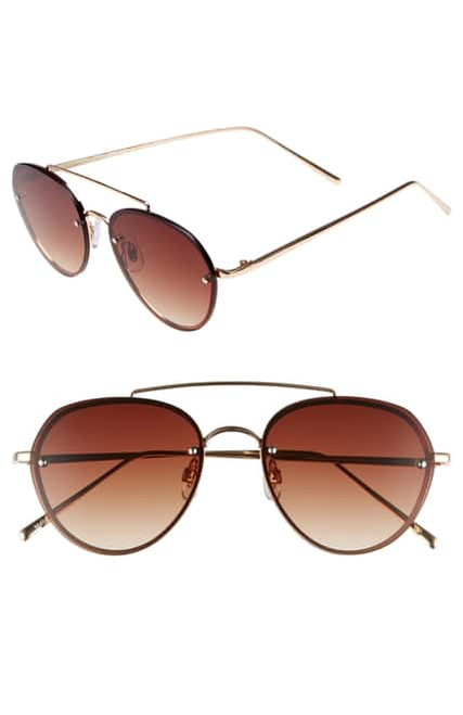 B.P - Gradient Petite Aviator Sunglasses  - Gold/Brown (LE)