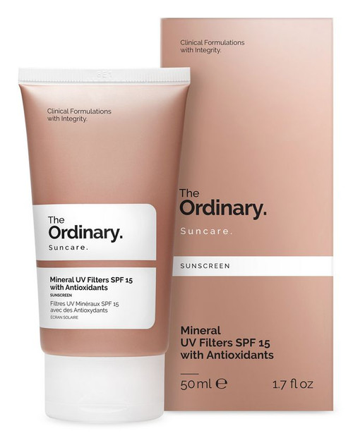 The Ordinary - Sunscreen Mineral UV Filters SPF 15 with Antioxidants (50ml)