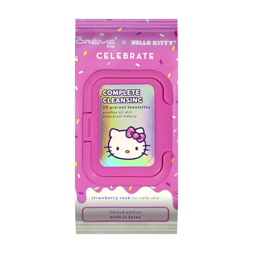 The Creme Shop - Hello Kitty - Complete Cleansing 20 pre-wet towelettes  (LE)