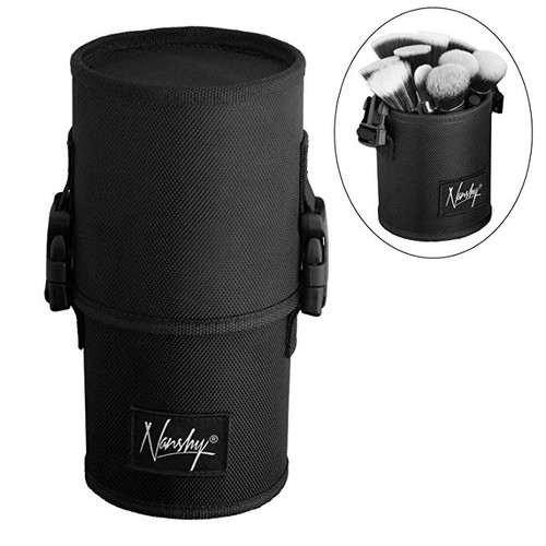 Nanshy - Large Black Travel Makeup Brush Case