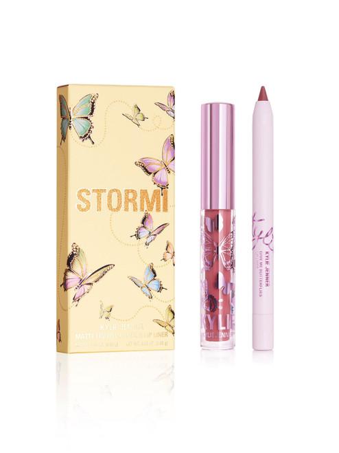 Kylie Cosmetics - Stormi Collection - Mini Matte Lip Kit - Give Me Butterflies (LE)