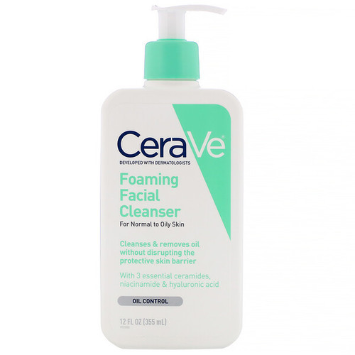 Cerave - Foaming Facial Cleanser - Normal to Oily Skin (355ml)