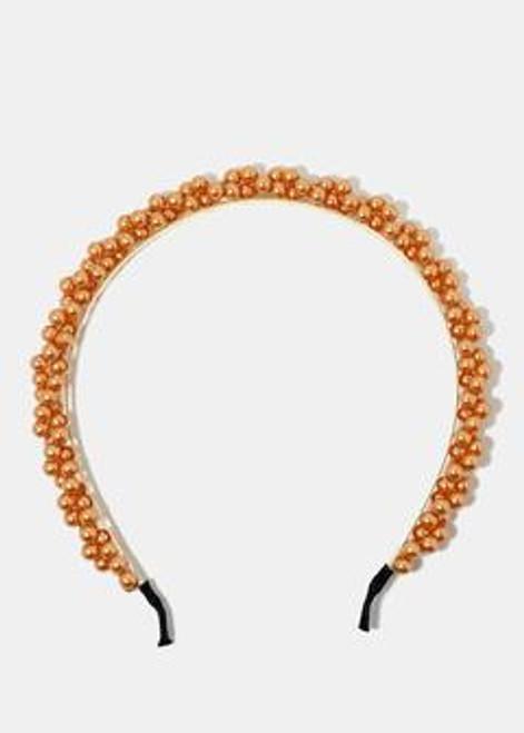 Princess - Solid Colored Pearl Studded Headband