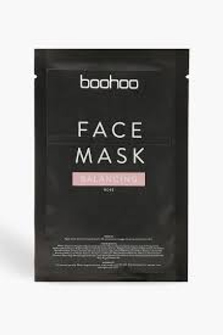 Boohoo - Balancing Rose Treatment Face Sheet Mask - Pink