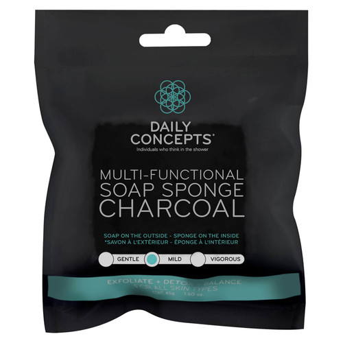 Daily Concepts - Charcoal Soap Sponge - For All Skin Types - 45oz