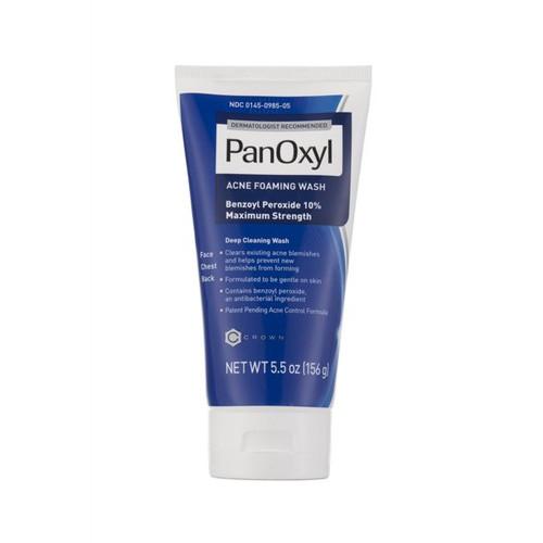 PanOxyl - Foaming Acne Wash - Maximum Strength -  10% Benzoyl Peroxide - 5.5 oz