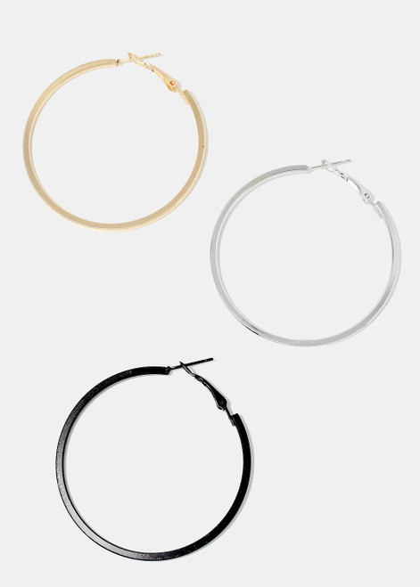 Melody - 3-Pair Hoop Earrings