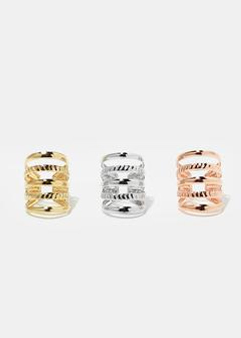 Melody - 3-Pair Cuff Earrings