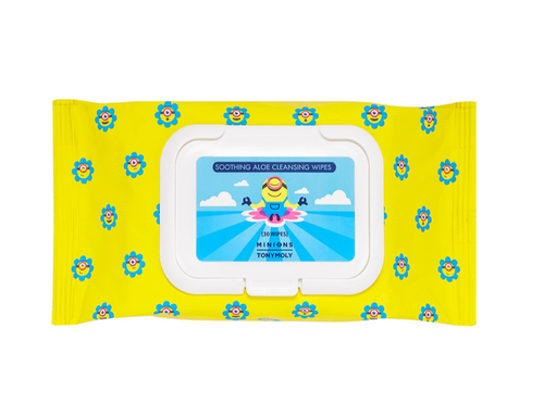 Tony Moly - Minions - Soothing Aloe Cleansing Wipes  - 30 wipes