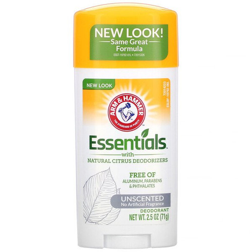 Arm & Hammer - Essentials with Natural Citrus Deodorant - Unscented