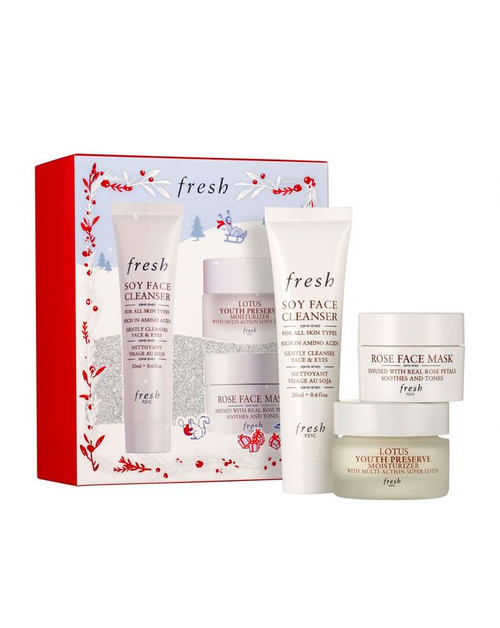 Fresh - Cleanse, Mask, Moisturise Set (20ml, 2 x 15ml) (LE)