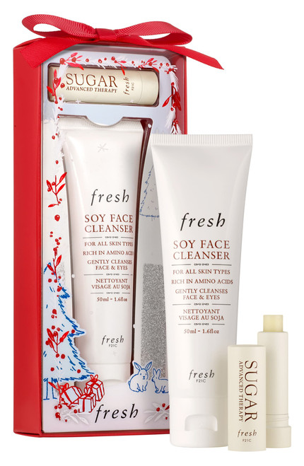 Fresh - Soy Face Cleanser & Sugar Lip Treatment Advanced Therapy Set (LE)