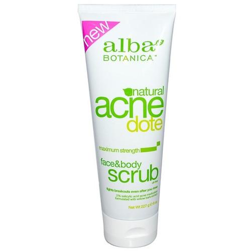 Alba Botanica - Acne Dote - Face & Body Scrub - Oil-Free (227 g)