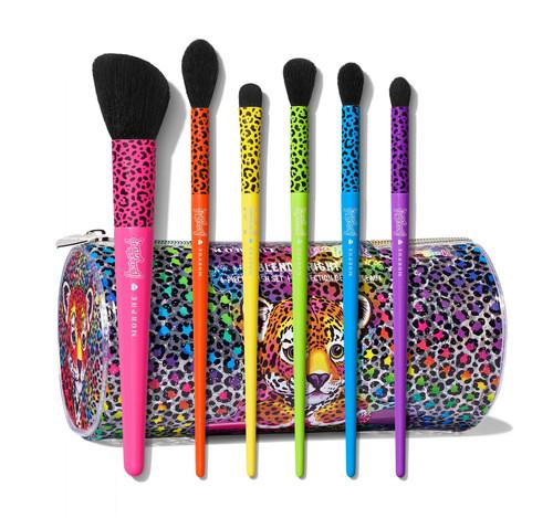 Morphe Brushes - Lisa Frank - Blend Bright Brush Set & Makeup Bag(LE)