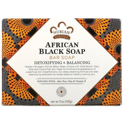 Nubian Heritage - African Black Bar Soap, 5 oz (142 g)