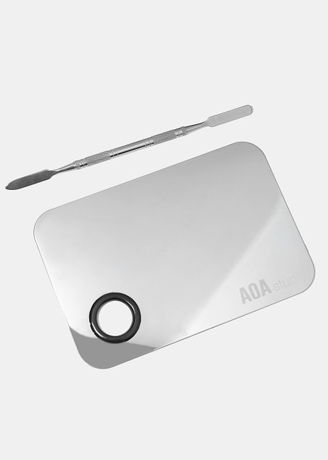 Aoa Studio - Stainless Steel Mixing Palette and Spatula